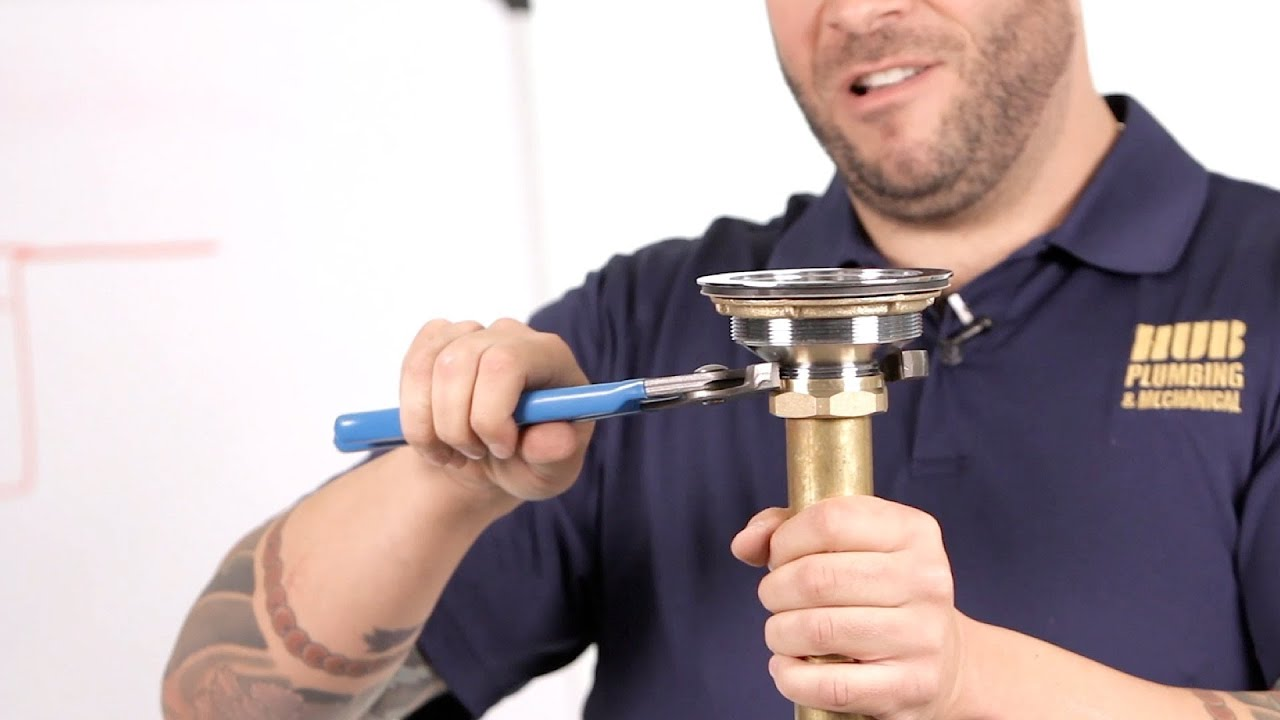 How to Fix a Kitchen Sink Drain | Basic Plumbing - YouTube