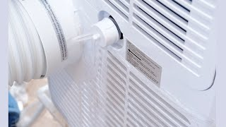 how to drain a portable AC without a hose