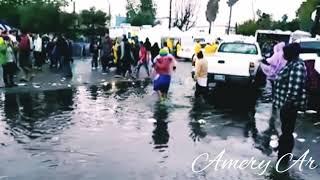 Así los migrantes con este clima lluvioso en Tijuana.