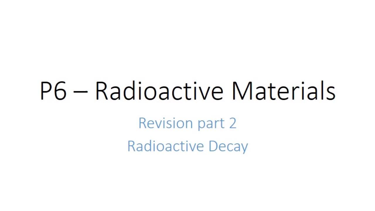 P Radioactive Materials GCSE Additional Science Physics - Relay switch gcse