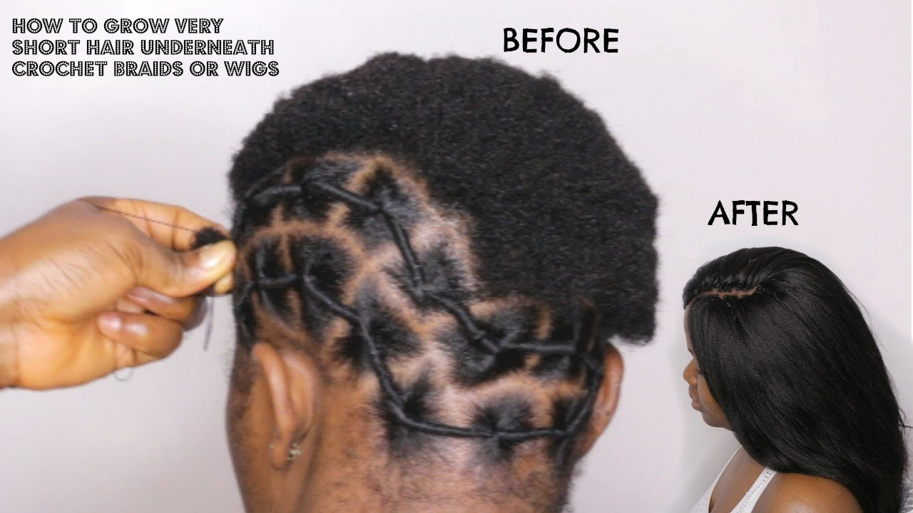 How To Grow Twa Hair Underneath Crochet Braids Youtube