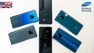 Huawei Mate 20 Pro vs Samsung Galaxy Note9 & Galaxy S9 Plus comparison english 4k
