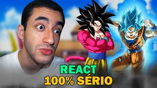 Goku SSJ4 vs Goku SSJ Blue (React)