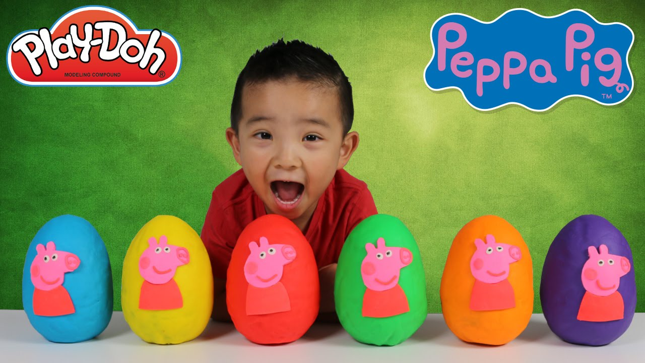 Peppa Pig Royal Family Play Doh Surprise Eggs Toys Opening
