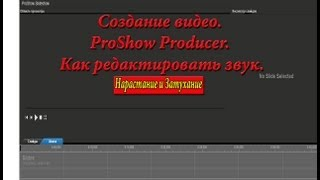 Создание видео. ProShow Producer. Как редактировать звук.Галина Петрова.(Как редактировать звук в ProShow Producer ProShow Producer очень интересная программа по созданию видео, но у нее есть..., 2013-05-13T04:22:13.000Z)