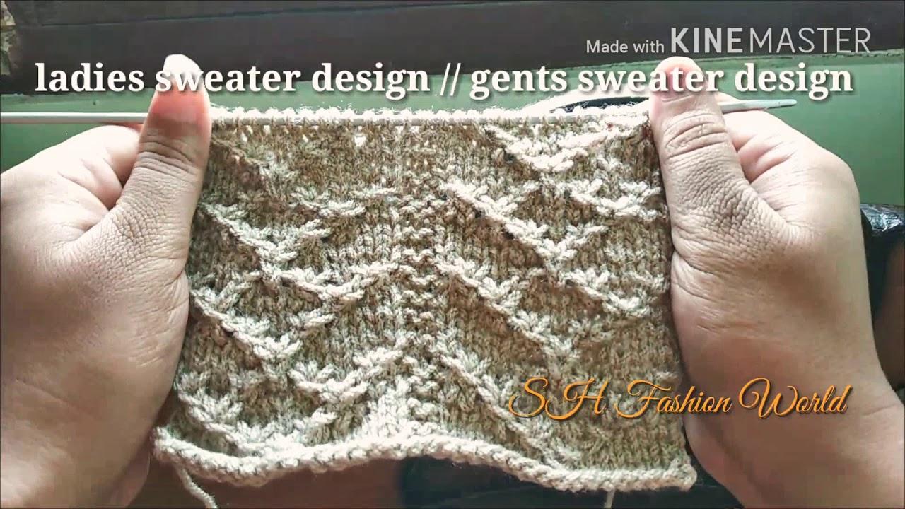 c4db1da7a21c Ladies sweater design   gents sweater in Hindi (English subtitles ...