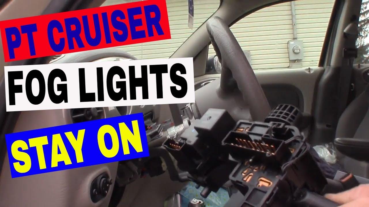 Chrysler Pt Cruiser Fog Dome Lights Stay On Drain Battery Easy Fix Pattern Failure Youtube