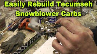 How To Rebuild Tecumseh Snow Blower Carburetors With Taryl