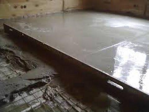 Стяжка пола в квартире в один уровень/ Выравнивание заваленных плит/ Как это делается.