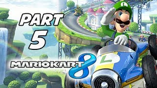 Mario Kart 8 Gameplay Walkthrough Part 5 - LUIGI Leaf Cup Grand Prix 150cc (Wii U Gameplay)