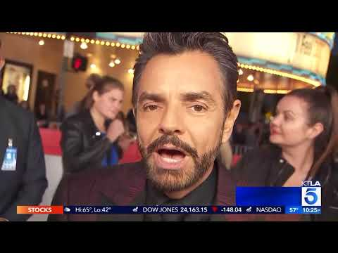 KTLA rides to the premiere with one of the Overboard cast members