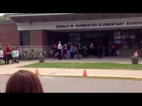 Memorial Day. Parmenter Elementary School Franklin MA 02038  Brayden singing 5th Grade