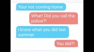 Budo Pranks Ayano! Texting Song Lyric Prank (I know what you did last summer)
