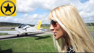 SKYMONKEYYYs Airplane Movies Emely's 1st Flying Lesson!