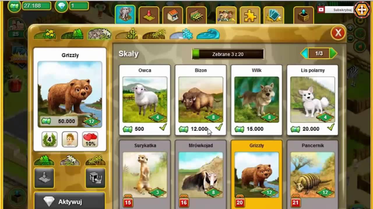 My free zoo pl gry o zwierzetach youtube for Freepl