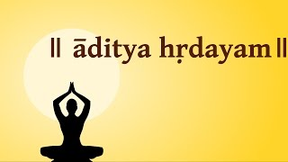 Aditya Hridayam Stotram with English Lyrics-Easy Recitation Series