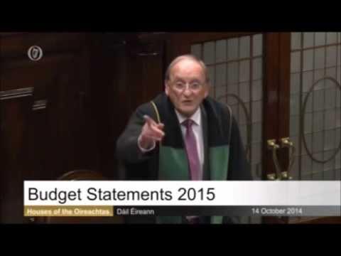Sinn Féin stage a walkout of the Dáil during Budget debate