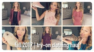 huge try on haul | fall clothing fashion trends 2017  | brianna k