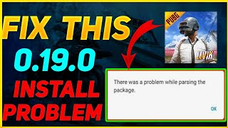 PUBG Mobile 0.19.0 Parse Error Fix Android | How To Fix Parse Error In 0.19.0