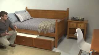 Casey Daybed - Honey Maple - Full - Product Review Video