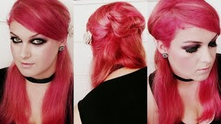 Prosta fryzura lekko inspirowana EMO