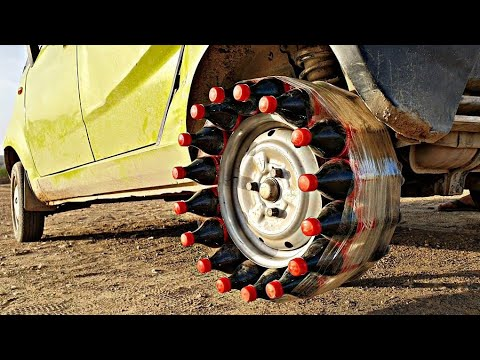 We Tried Coca - Cola Bottle Tyre In Our Car