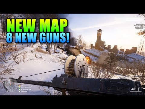 Battlefield 1 Brusilov Keep Map + 8 New Guns!
