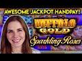 JACKPOT HANDPAY!! Massive WIN on Sparkling Roses Slot Machine!!
