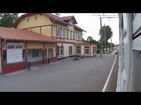 Светлогорск - Калининград КЛНГ ж.д. из окна электропоезда