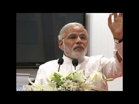 Narendra Modi at the Improvement of Higher Education Seminar with Lord Bhikhu Parekh