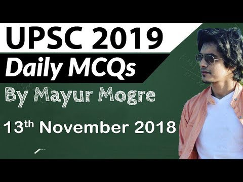 UPSC 2019 Preparation - 13 November 2018 Daily Current Affairs for UPSC / IAS 2019