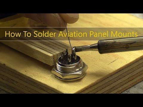 How To Solder Aviation Panel Mounts / Chassis Socket Connectors