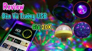 Trên Tay Đèn LED vũ trường mini USB cảm ứng theo nhạc đẹp lung linh