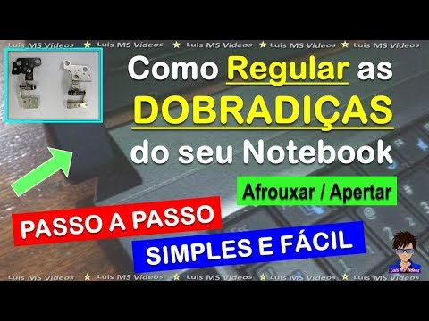 Como Afrouxar Regular as Dobradiças da Tela de Notebook
