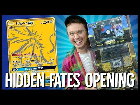 3X Pokemon Hidden Fates Premium Collection Box Opening!
