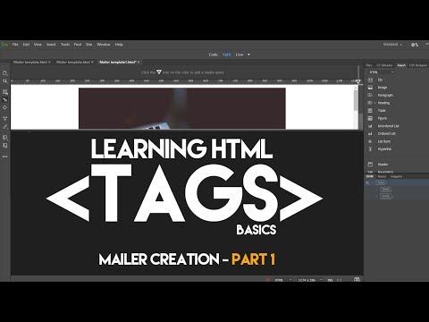 HTML Basics Tutorial - HTML Tags, How To Make HTML Mailer? I Dreamweaver