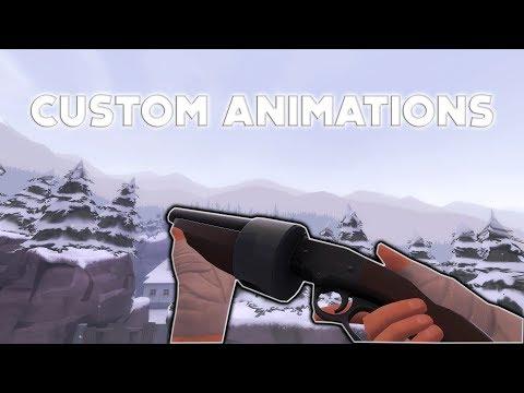 [TF2] Custom Weapon Animations Showcase (Working 2018)