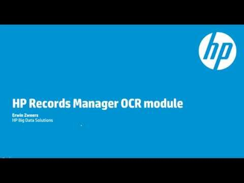 Introduction to the HP Records Manager OCR Module