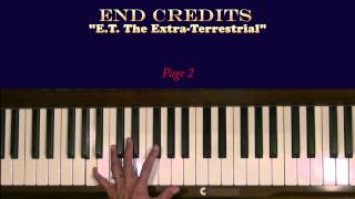 End Credits or Over The Moon E. T. Piano Tutorial LH