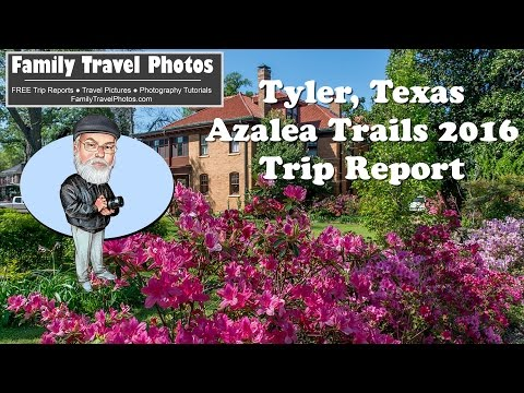Tyler Azalea Trails 2016 - Tyler Texas Spring Flowers - Trip Report By Family Travel Photos