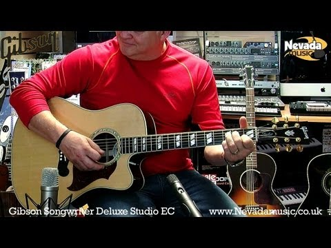 Gibson Songwriter Deluxe Studio EC Acoustic Guitar Demo - Richie Stopforth @ PMTV