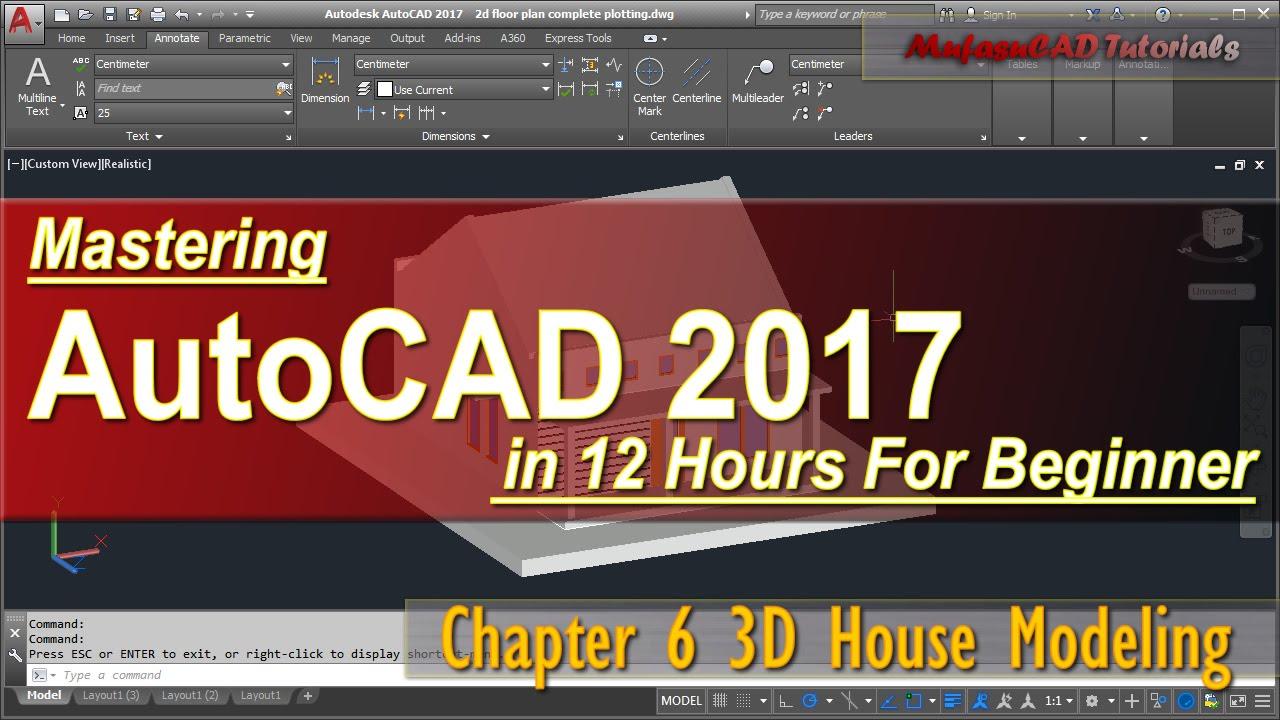 autocad 3d house modeling tutorial pdf