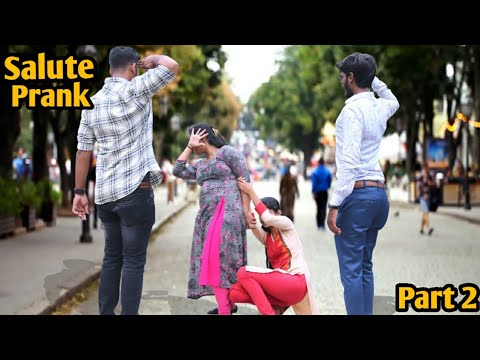 Salute Prank On Cute Girls || Salute Prank Part 2 || Funny Pranks || Epic Reaction || Pune
