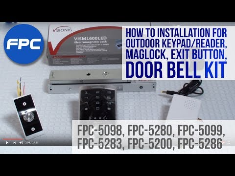 Reader Mag lock Exit button and doorbell Kit Installation video |  FPC Security Outdoor Keypad