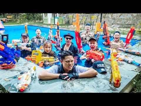 LTT Nerf War : Couple SEAL X Warriors Nerf Guns In Villa Fight Crime Dr.Lee Crazy Base Invasion