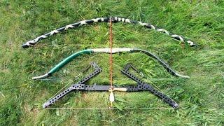 Стрельба из лука на дальность  Сравнение самодельных луков