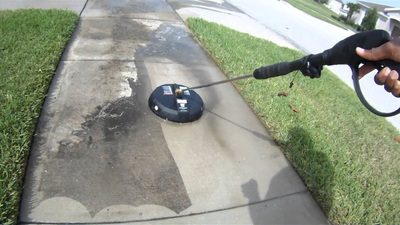 Yamaha surface cleaner 15 youtube for Cement driveway cleaner