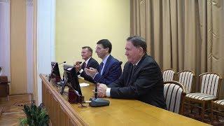 Врио губернатора Курской области Романа Старовойта познакомили с чиновниками и СМИ