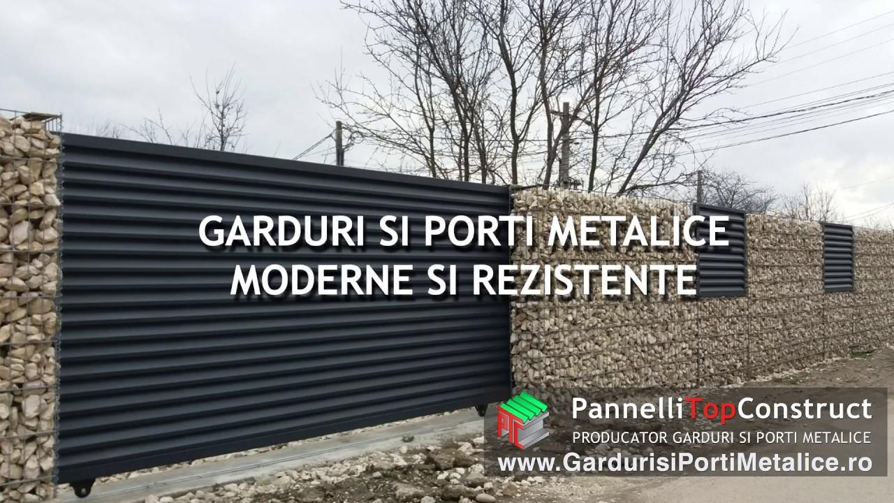 Garduri metalice modele pentru o casa moderna youtube for Modele de garduri pentru case