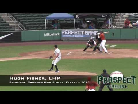 Hugh Fisher Prospect Video, LHP, Briarcrest Christian High School Class of 2017, CF Cam
